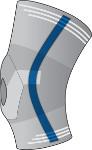 Ginocchiera con snodi bilaterali flessibili