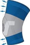 Ginocchiera traspirante - linea elastica Donjoy
